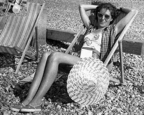 50s sunbather