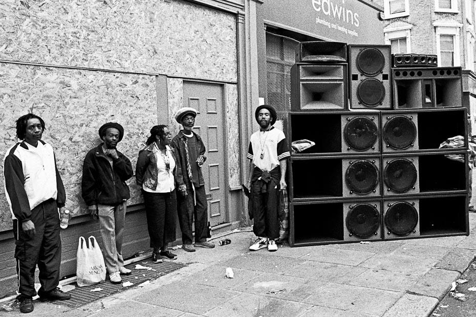 Soundsystem pendant le festival de Notting Hill.