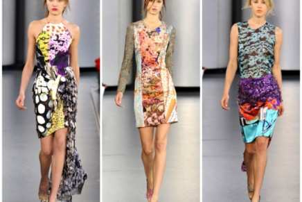 Style bite // Mary Katrantzou S/S'12: carnation catwalk + mismatched prints