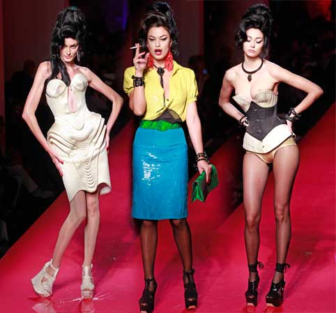 Jean Paul Gaultier SS12 Amy Winehouse inspired couture show