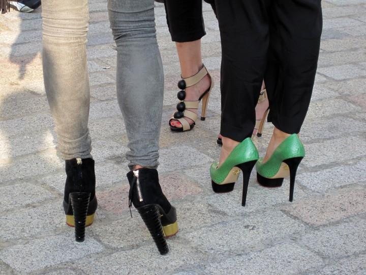 Charlotte Olympia shoes st London Fashion Week