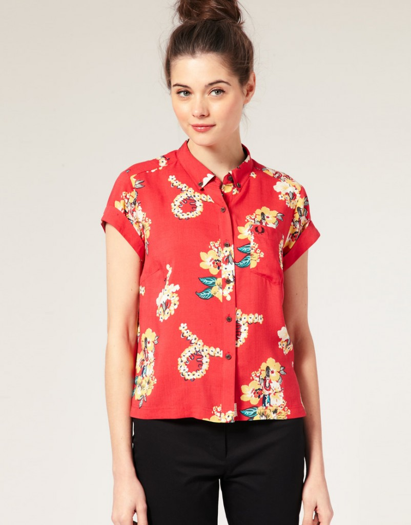 Fred Perry Amy Winehouse Hawaiian shirt