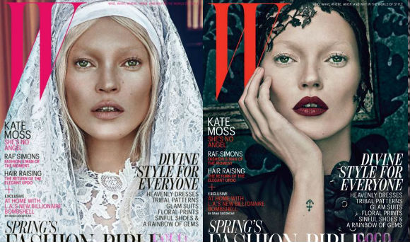 kate moss sinner saint W magazine covers