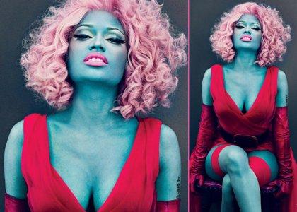 Nicki Minaj Blue Vogue Cover