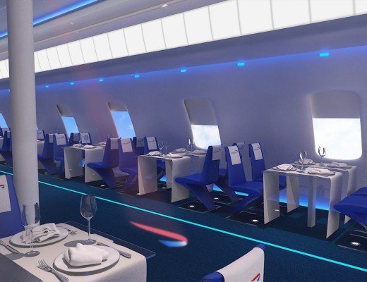 flight BA2012 dining lounge