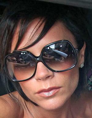 Victoria Beckham in oversized sunglasses