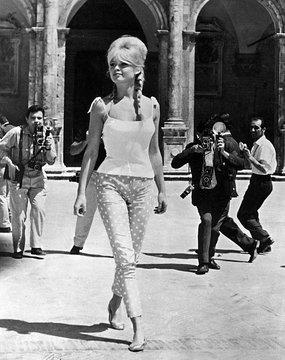 Brigitte Bardot polka dot capri pants