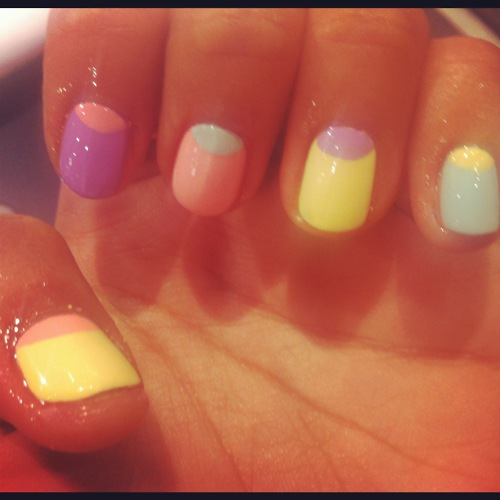 Le Blow WAH NAILS pastel half moons