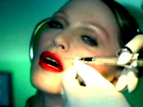 Madonna gets an injection of Botox in her clip for Hollywood