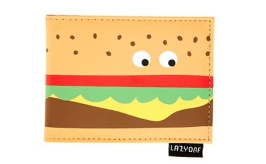 Lazy Oaf burger purse with wobbly eyes