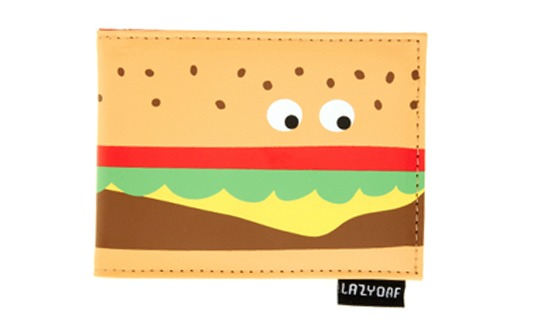 Lazy Oaf burger purse with wobbly eyes