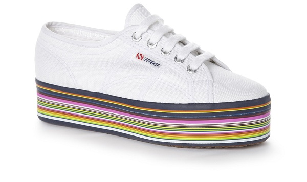 House of Holland Superga trainers stripe