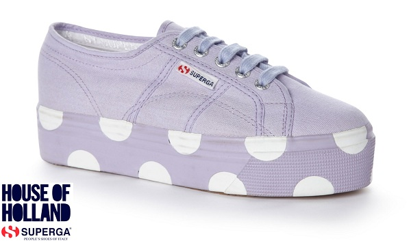 House of Holland Superga trainers lilac