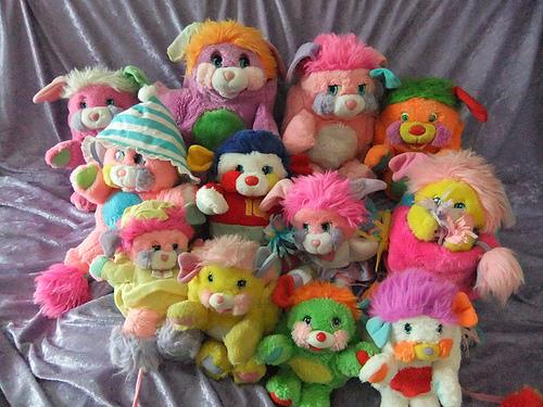 Popples rainbow colours