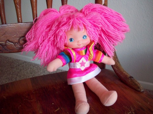 Rainbow Brite pink hair