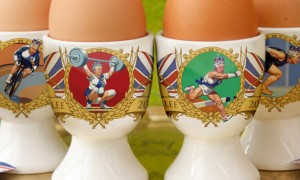 Royal Jubilee sporting egg cups