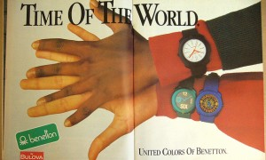 Benetton watches advert from the 90s