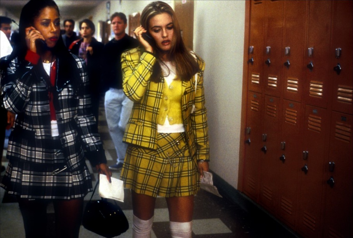 Cher's outfits in Clueless tartan skirt suit