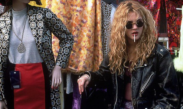 Drew Barrymore 90s fashion