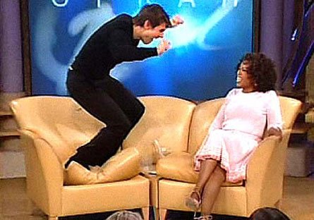 Tom Cruise jumping up and down on Oprah's sofa