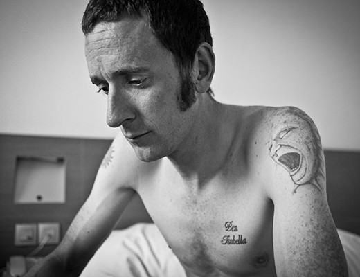 Bradley Wiggins black and white