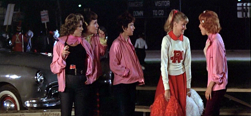Rydell High School cheerleaders Sandy from Grease