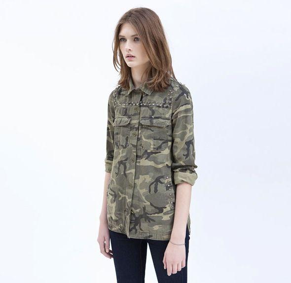 Camouflage shirt zara