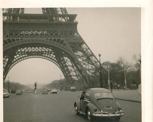 Driving under the Eiffel Tower