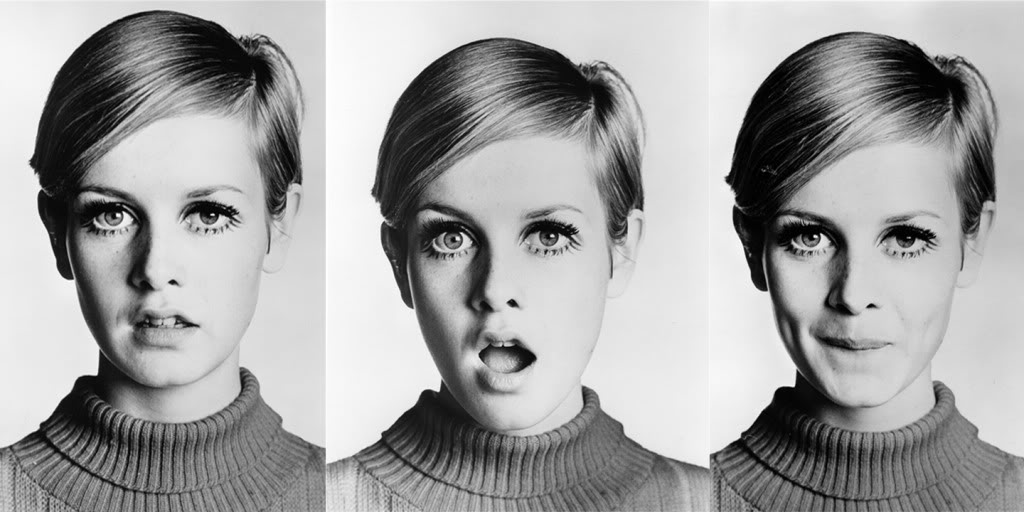 Twiggy with Mod hair