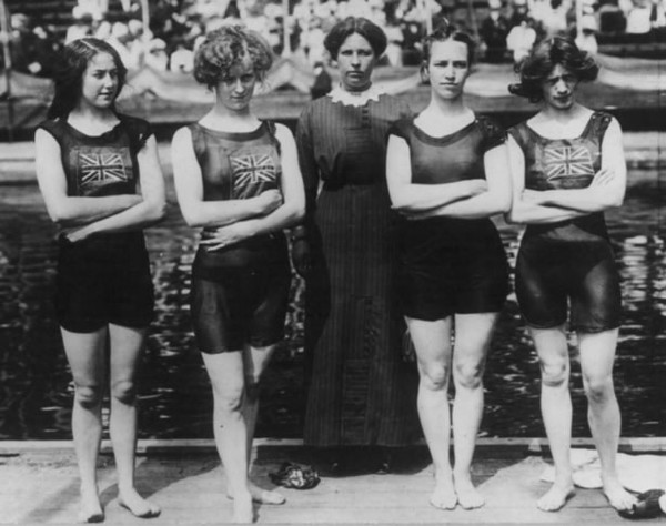 Vintage female swimmers