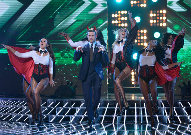 Halloween week X Factor 2012 Dermot dance