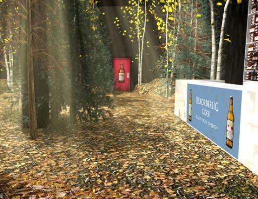 Rekorderlig pop up winter forest bar