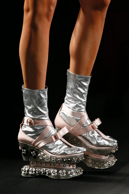SS13 Prada geta shoes