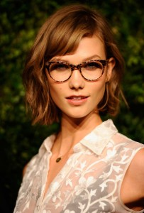 Karlie Kloss in glasses
