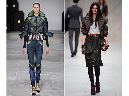 Designer puffer coats AW12