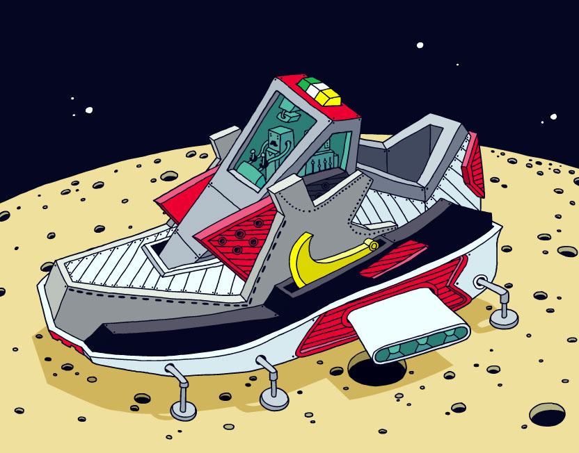 Space sneakers by Ghica Popa