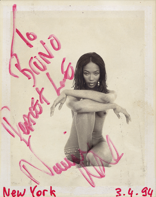 Bruno Bisang polaroids exhibition Naomi Campbell - www.leblow.co.uk