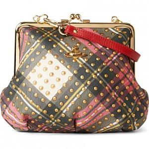 Vivienne Westwood tartan clutch handbag - www.leblow.co.uk
