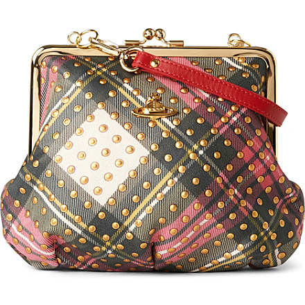 Vivienne Westwood tartan clutch handbag - www.leblow.co.uk