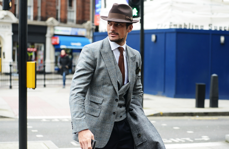 David Gandy by Tommy Ton at Mens Fashion Week
