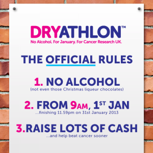 Cancer Research UK Dryathlon rules