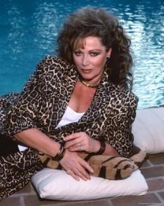 Jackie Collins leopard print