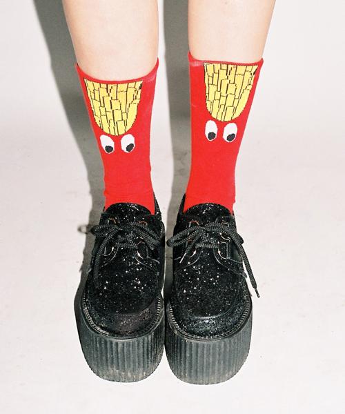Lazy Oaf fries socks