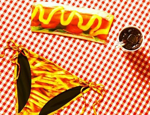 Topshop hotdog bikini