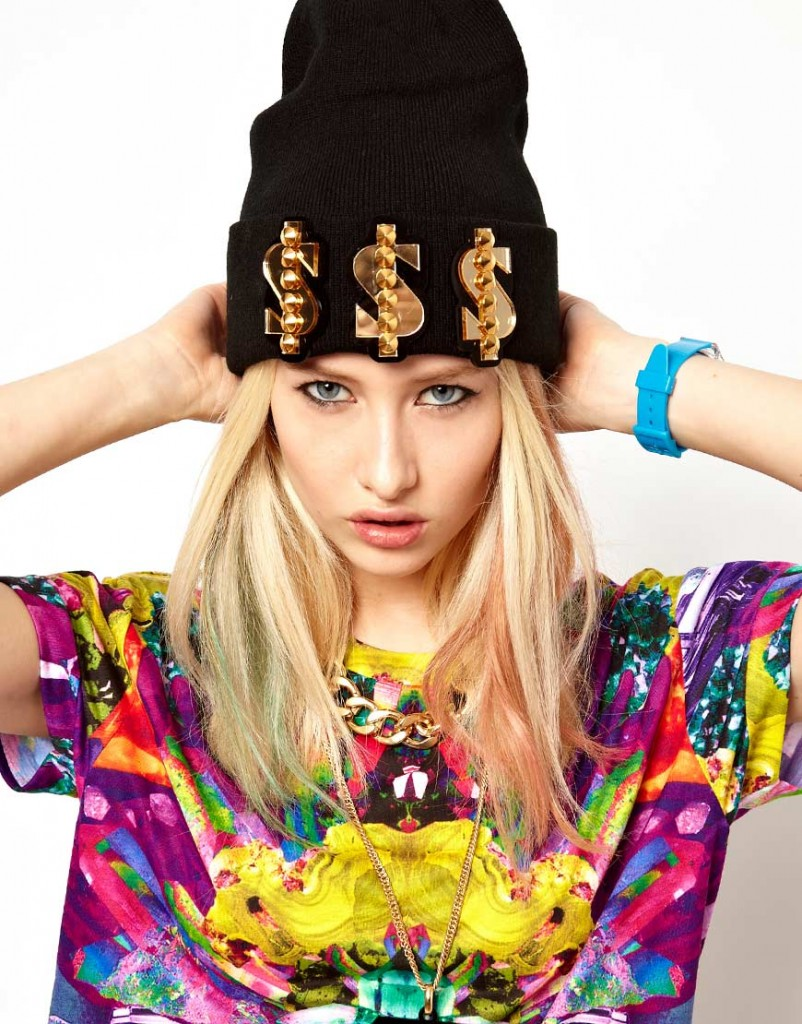 Funky Bling beanie hat at ASOS