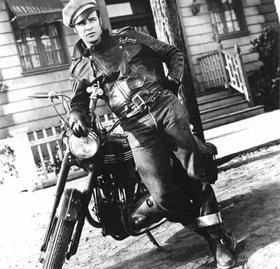 Marlon Brando in a biker jacket