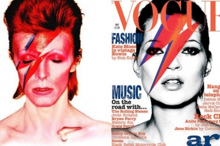 Vogue Flashback // Moss as Bowie in 2003