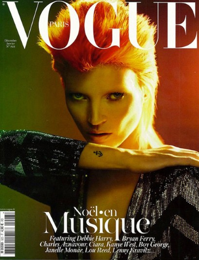 Kate Moss Ziggy Stardust Vogue cover 2011