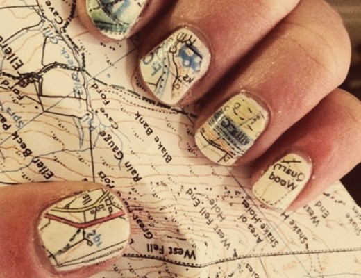 Map design nail art