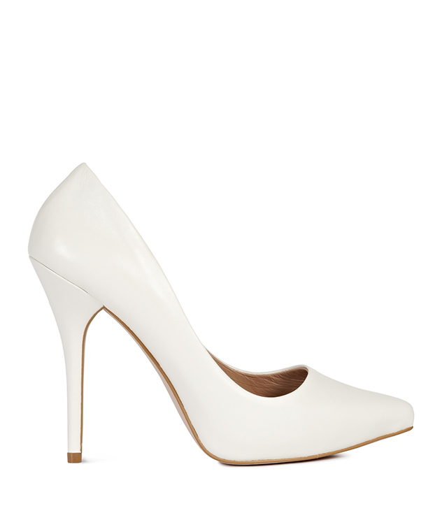 White Stiletto Heels | Fs Heel